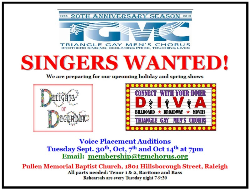 singers wanted 2014